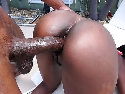 Lovely inky babe gets fucked fast at the end of one's tether a majuscule inky cock