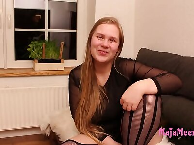 Chubby Maja with obese natural knockers get fucked