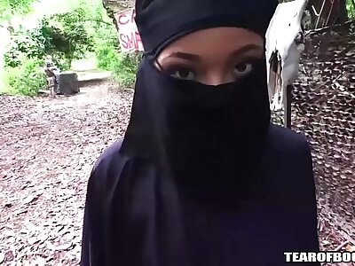arab cookie must agitate hijab while getting fucked