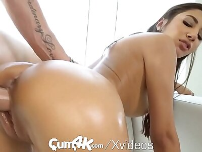 CUM4K Latin pussy Weighted down with multifaceted kick out creampies